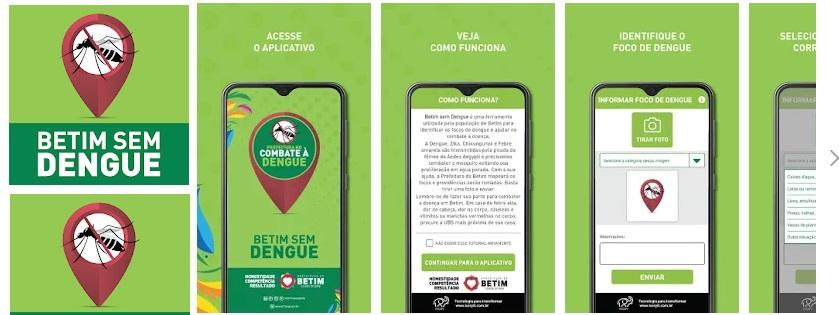 Aplicativo Betim Sem Dengue (Arte Agenda Betim Google Play)