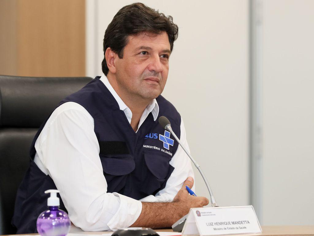 Ministro da Saúde, Luiz Henrique Mandetta em Videoconferência