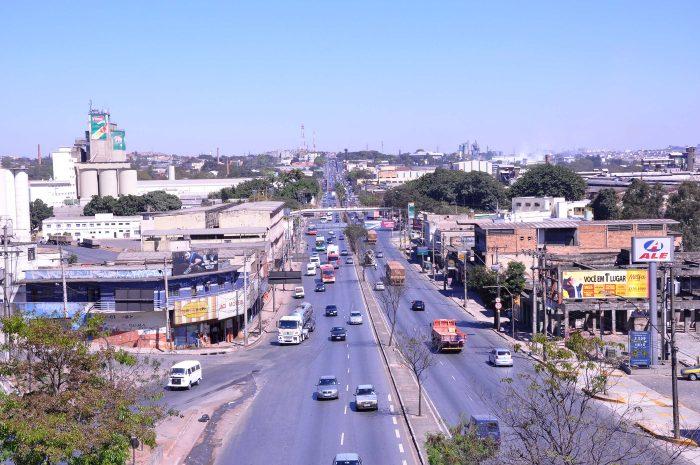 A avenida Amazonas Cidade Industrial Contagem (Imagem Elias Ramos Prefeitura de Contagem)