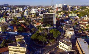 Prédio do Ipremb e centro de Betim ao fundo (Imagem PMB Divulgação)