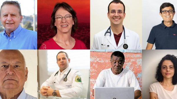 Fotomontagem com oito candidatos a prefeito em Betim em 2020