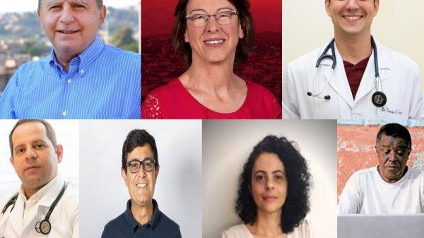 Betim terá sete candidatos para o cargo de prefeito nas eleições 2020 (Imagens Reprodução/Facebook - Arte Agenda Betim)