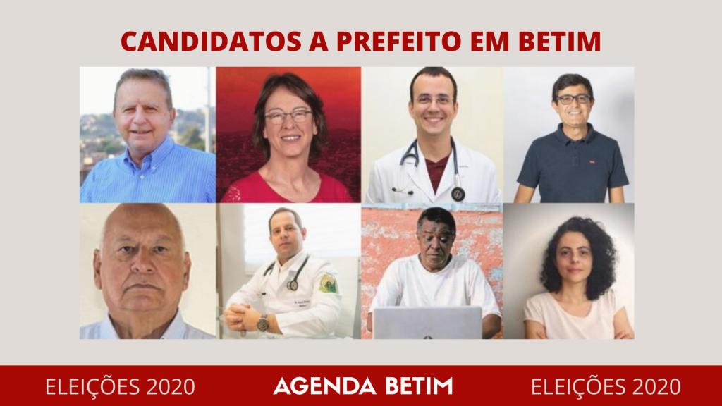 Candidatos a prefeito em Betim (Imagem redes sociais/TSE/Arte Agenda Betim)