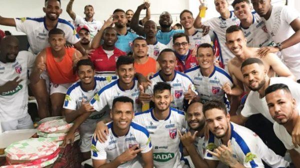Betim Futebol comemora classificação para o quadrangular final (Imagem Felipe Augusto Correia/Betim Futebol/Divulgação)
