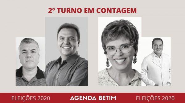 Felipe Saiba (DEM) e Marília (PT) disputam o segundo turno em Contagem (Imagem TSE/DivulgaCand/Arte: Agenda Betim)