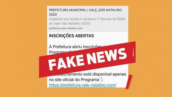 Mensagem sobre vale gás começou a circular pelas redes sociais e por aplicativos de mensagens (Imagem PMB)