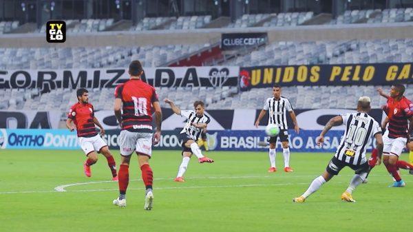 17.Jan.2021 - Atlético e Atlético-GO no Mineirão (Imagem Reprodução TV Galo)