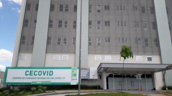Fachada do Centro de Cuidados Intensivos para Covid-19 em Betim