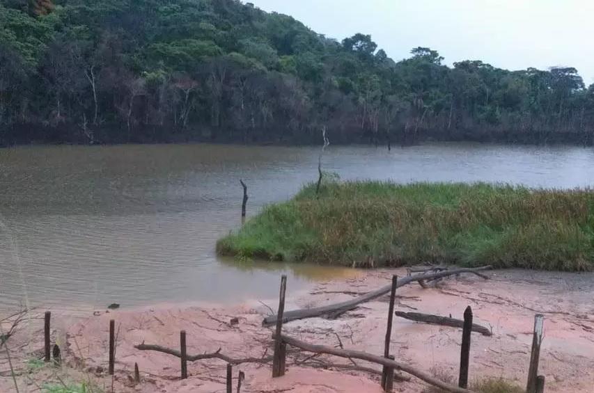 Lagoa transborda em Betim (Imagem PMB Divulgação)