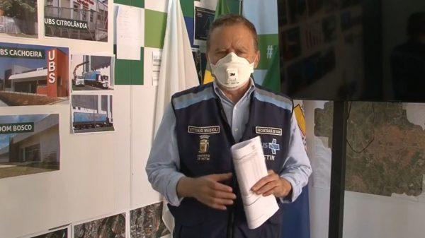25.mar.2021 - Prefeito Vittorio Medioli em transmissão na internet (Imagem Reprodução/Facebook)