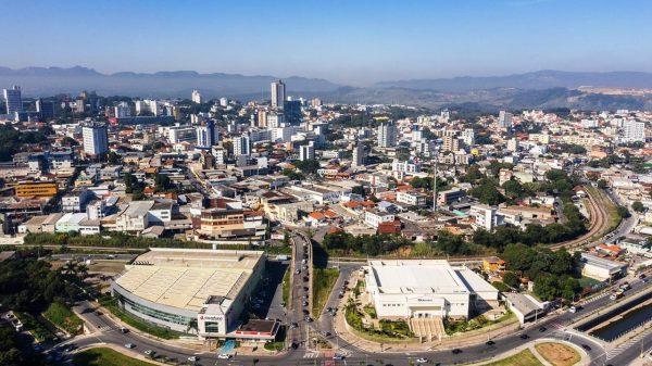 Vista aérea da região central de Betim (Imagem Prefeitura de Betim Divulgação)