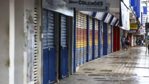 Lojas fechadas pandemia