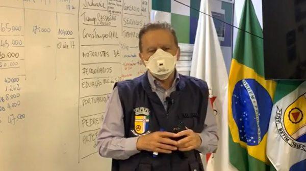15.abr.2021 - Vittorio Medioli em transmissão na internet