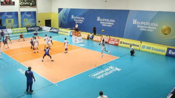 Taubaté e Minas no primeiro jogo da final da Superliga Masculina de Vôlei