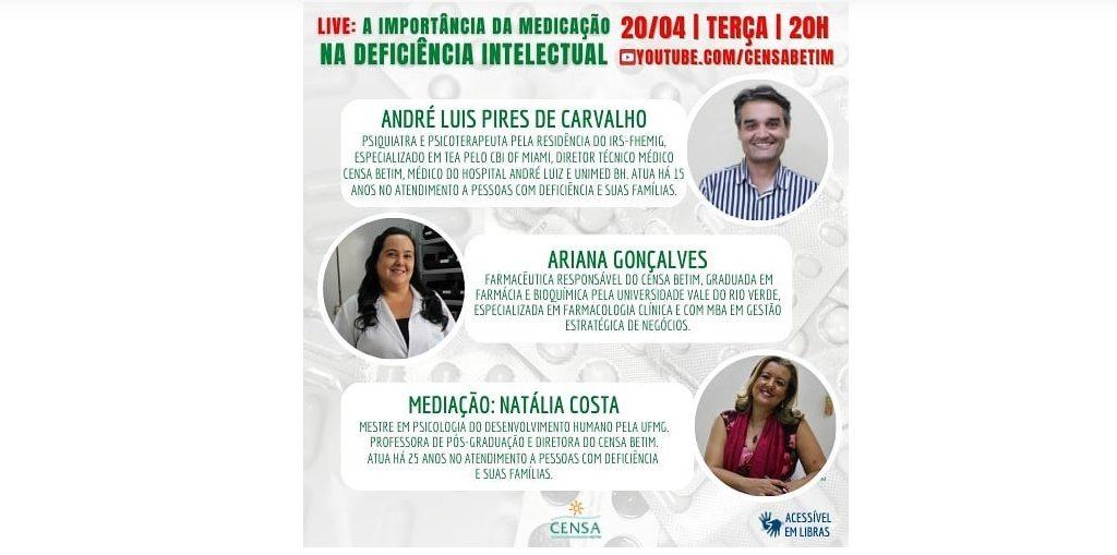 Banner de divulgação live do Censa Betim