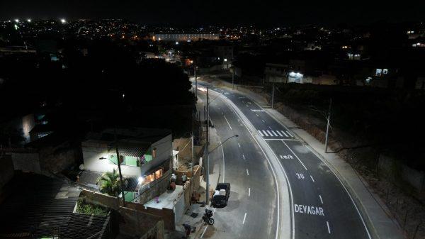 Avenida Independência, na regional Imbiruçu em Betim (MG)