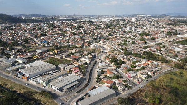 Imagem aérea de Betim (Foto Guga Ribeiro PMB Divulgação)