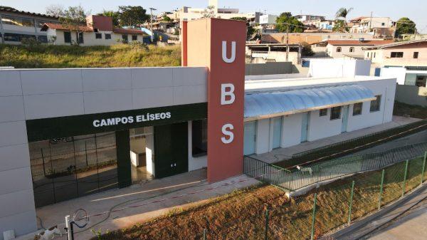 Fachada da Unidade Básica de Saúde Campos Elíseos em Betim