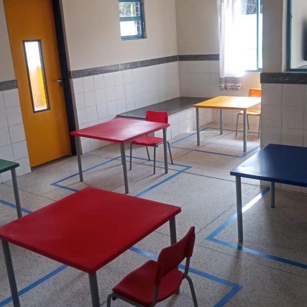 Sala de aula em escola de Betim (MG)